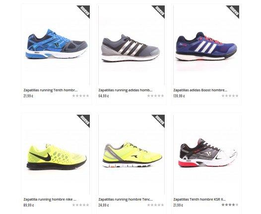 Decimas zapatillas de hombre