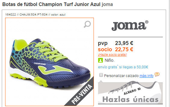 botas de futbol baratas para niños 2015