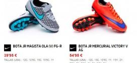 Botas de fútbol para niños baratas: Adidas y Nike
