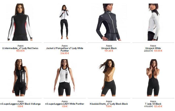 assos ropa ciclismo mujer