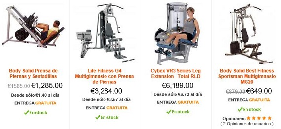 máquinas de gimnasio para piernas