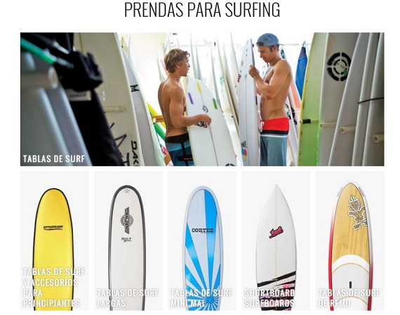 Ropa surf 2016