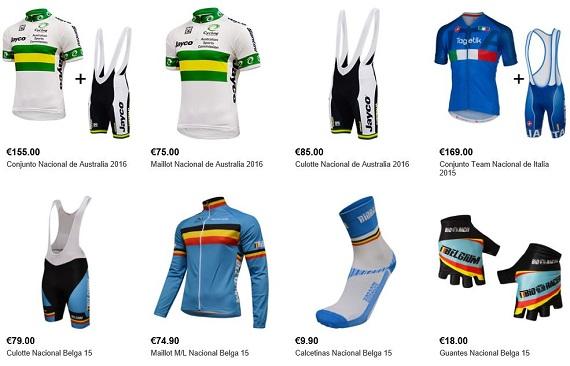 equipaciones de ciclismo equipos
