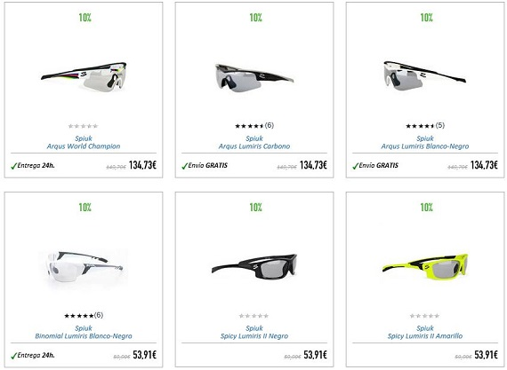 gafas fotocromáticas spiuk