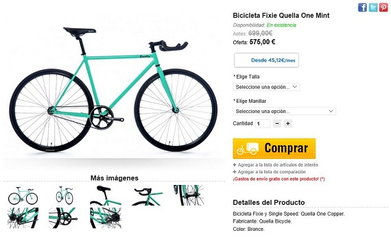 bicicletas fixie precios