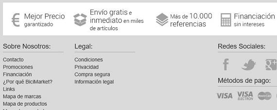 bicimarket envíos y devoluciones
