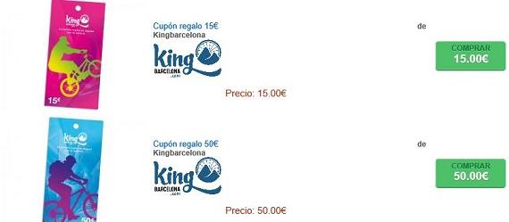 king barcelona cupones descuento