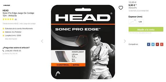 cordajes de tenis head