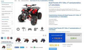 quads para adultos 125 cc