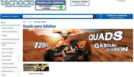 Quads para adultos baratos y online: de 125 cc, matriculables y gasolina