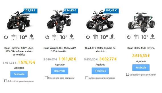quads para adultos gasolina
