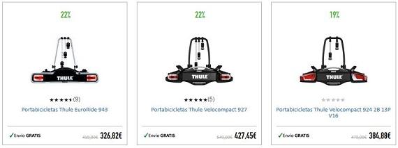 portabicis thule y towcar