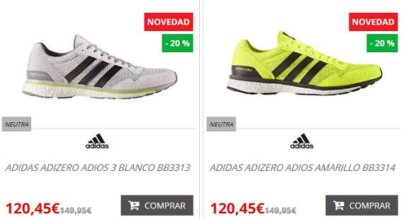 zapatillas running nike y adidas