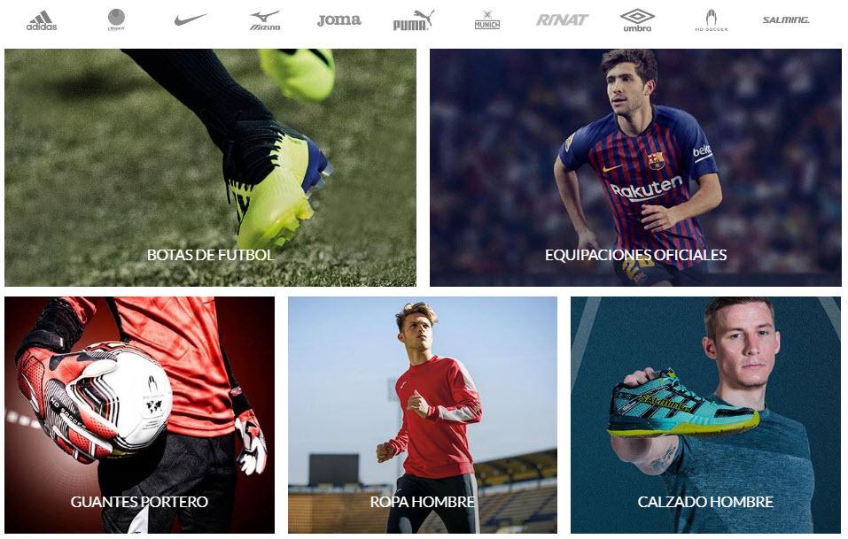 tiendas de futbol