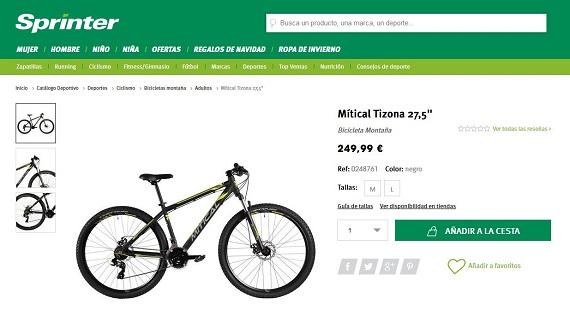 sport zone bicicletas